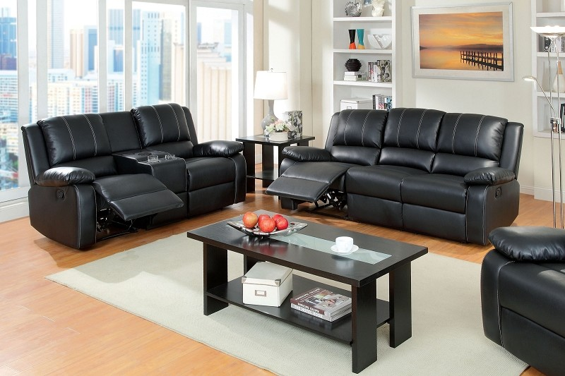FURNITURE OF AMERICA, 2 PCS SOFA SET WITH 2 RECLINERS , CM6826