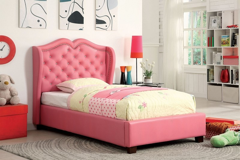 MONROE FULL BED PINK