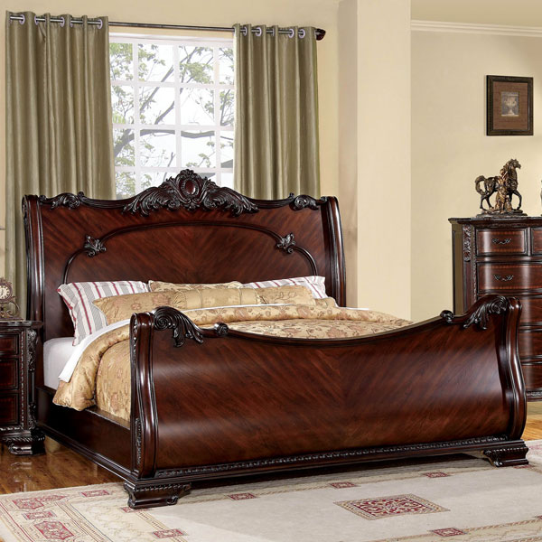 Furniture of america bellefonte queen bed luxurious for Queen bed frame and dresser set