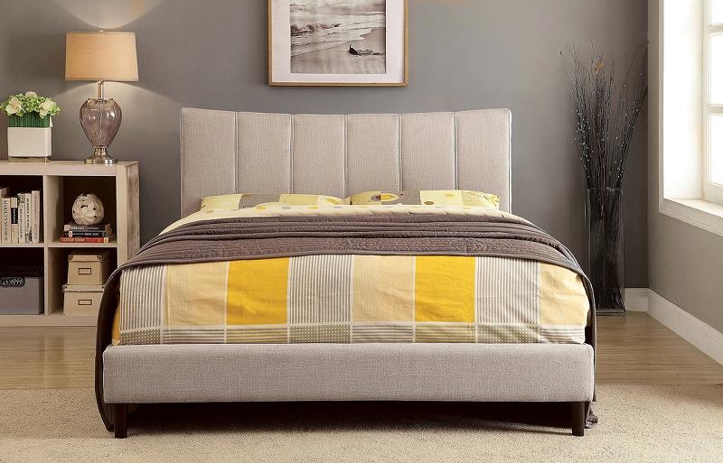 Furniture Of America Ennis Brand New Beige Queen Size Bed Cm7678bg