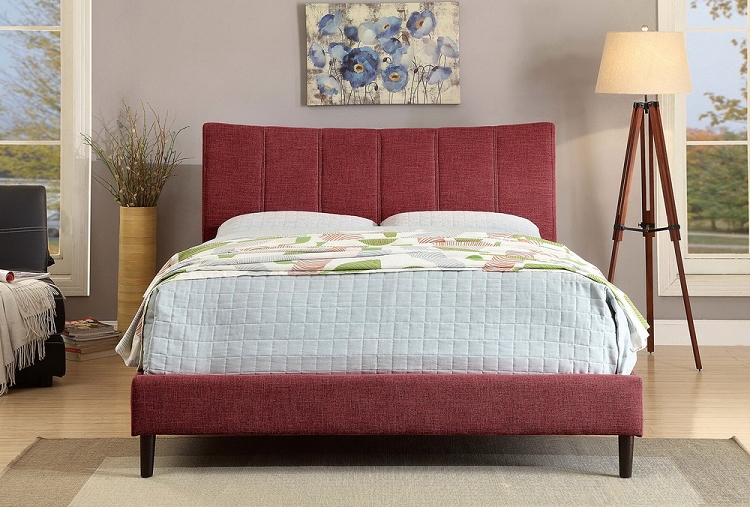 Furniture Of America Ennis Brand New Red Cal King Size Bed