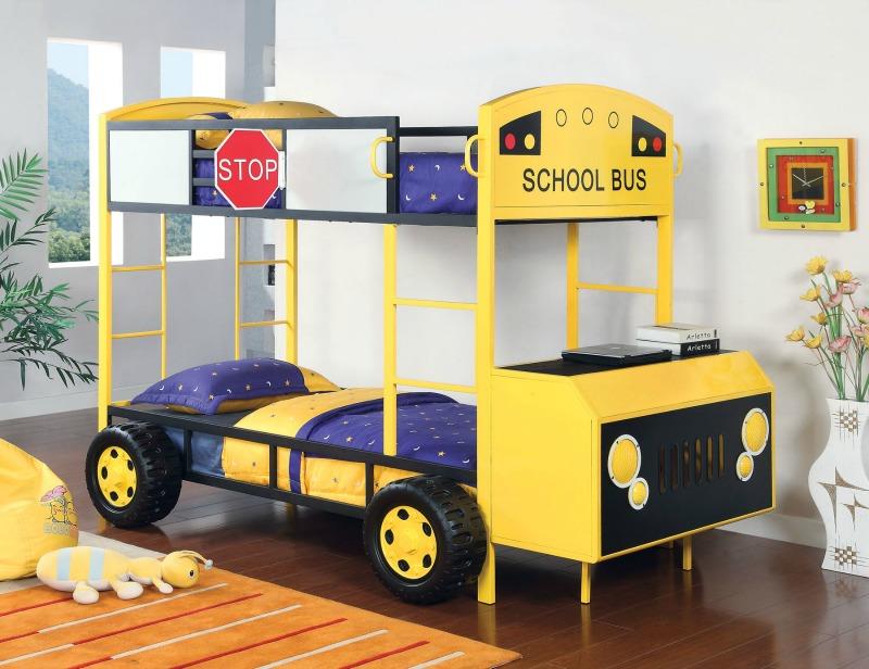 Twin Twin Bunk Bed School Bus Design