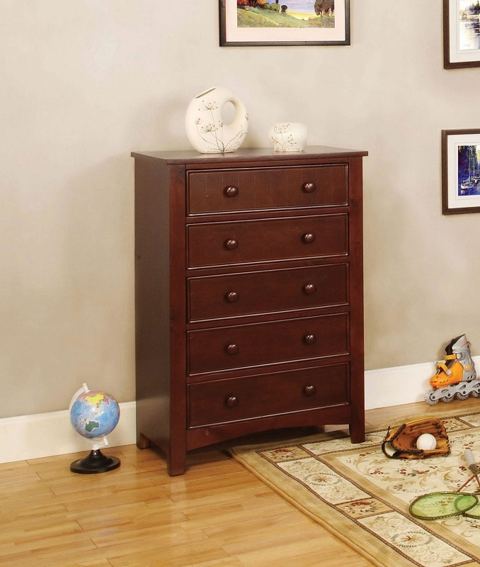 5 DRAWERS CHEST  CHERRY