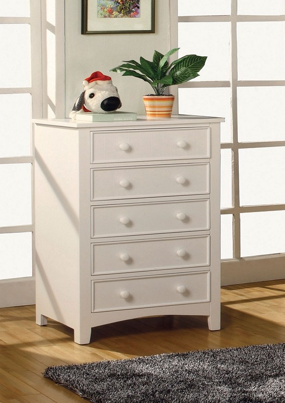 5 DRAWERS CHEST WHITE