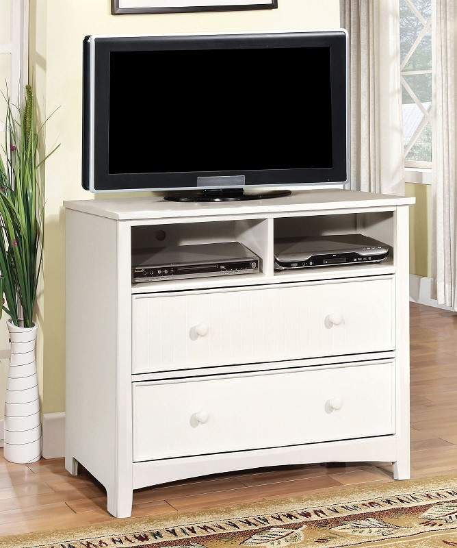 FURNITURE OF AMERICA, MEDIA CHEST WHITE, CM7905WH-TV