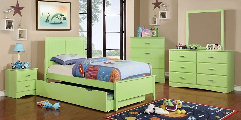 FURNITURE OF AMERICA, TWIN BED GREEN, CM7941GR