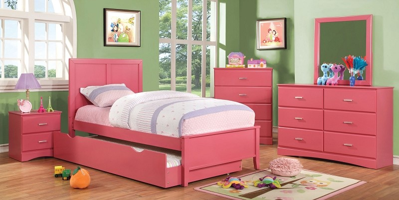 FURNITURE OF AMERICA, TWIN BED PINK, CM7941PK