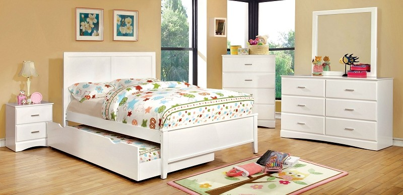 FURNITURE OF AMERICA, TWIN BED WHITE, CM7941WH