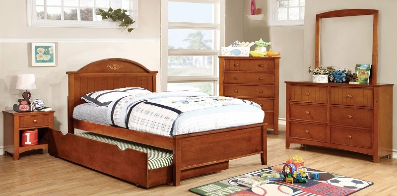 TWIN BED OAK, CM7942A