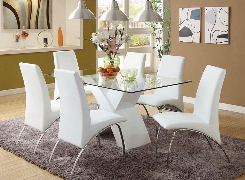 7PCS DINING TABLE + 6 SIDE CHAIRS
