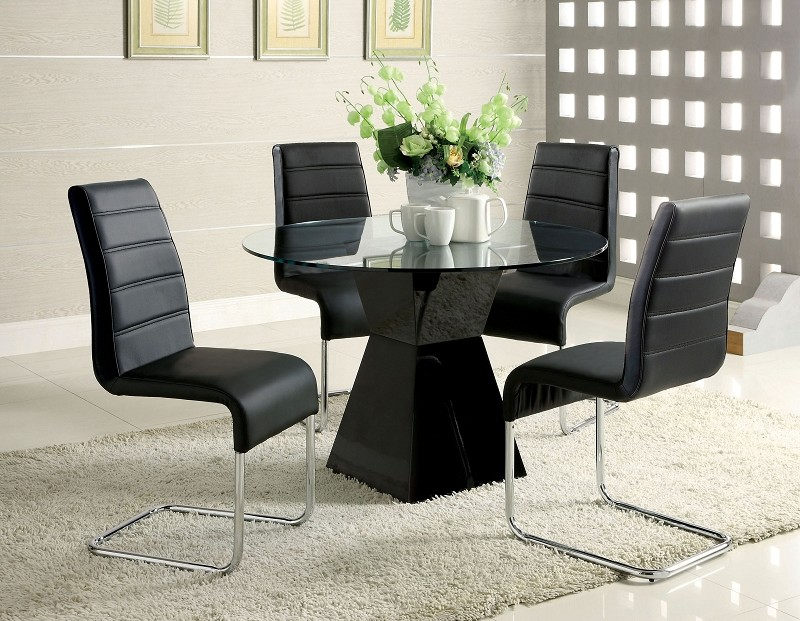 5PCS DINETTE SET BLACK FINISH