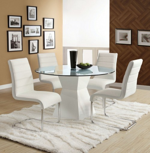 5PCS DINETTE SET WHITE
