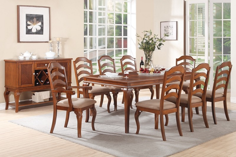 POUNDEX, 9 PCS FORMAL DINNING SET, F2190, F1397