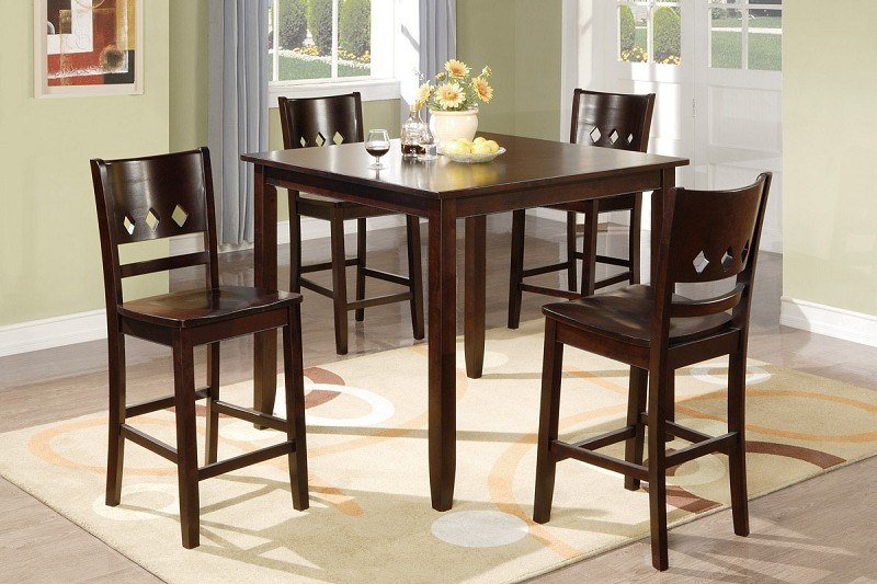 POUNDEX 5PC DINETTE SET ESPRESSO, F2243