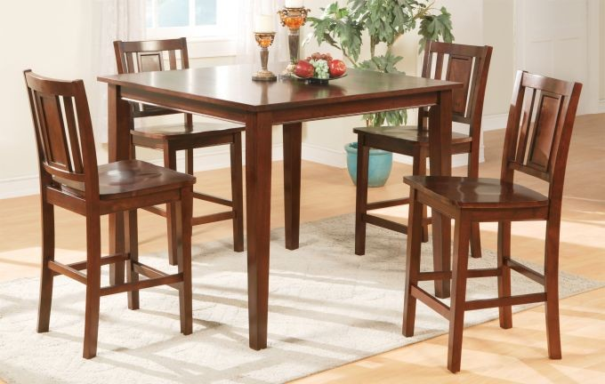 POUNDEX 5PC DINETTE SET COUNTER HEIGHT TOP, F2254