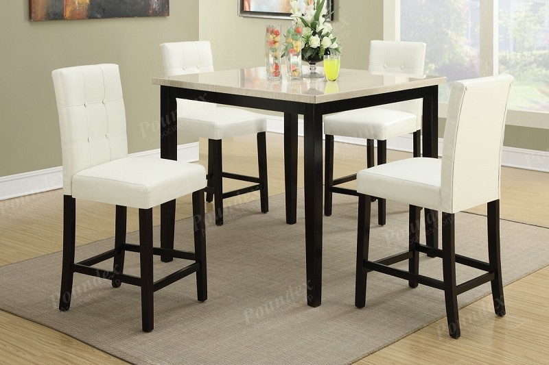 POUNDEX, 5PCS TABLE+4 CHAIRS COUNTER TOP TABLE, F2338, F1322