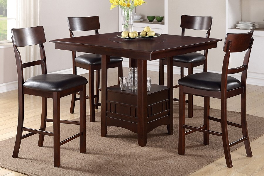 5PCS COUNTER HEIGHT TABLE+4CHAIRS