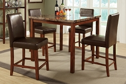 POUNDEX 5PC DINETTE SET, TABLE+4 CHAIRS, F2542
