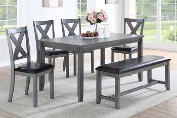 6 PCS DINING SET GRAY, F2548