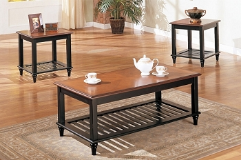 POUNDEX 3PC SET TABLE, 1COFFEE TABLE+2END TABLES, F3074