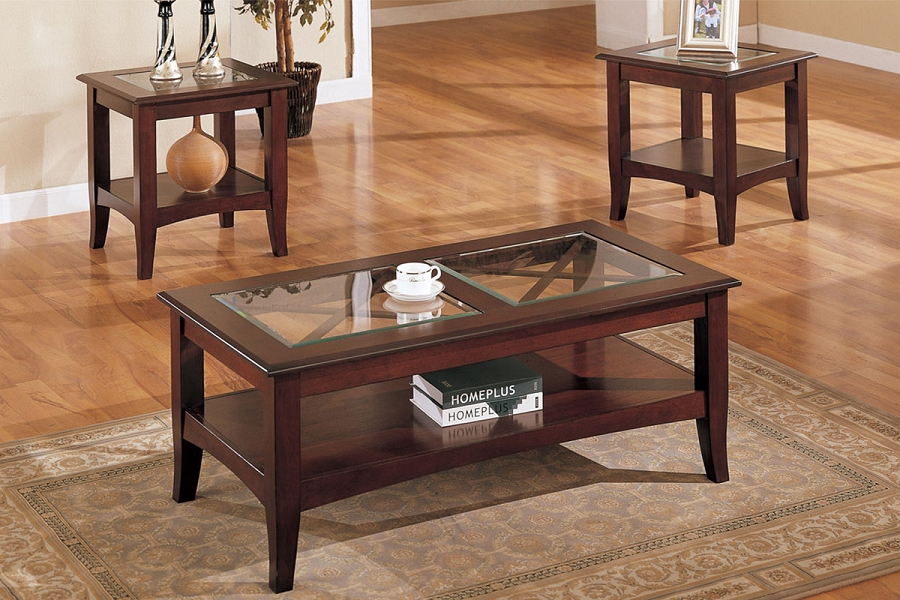 POUNDEX 3PC SET TABLE, 1COFFEE TABLE+2END TABLES, F3075