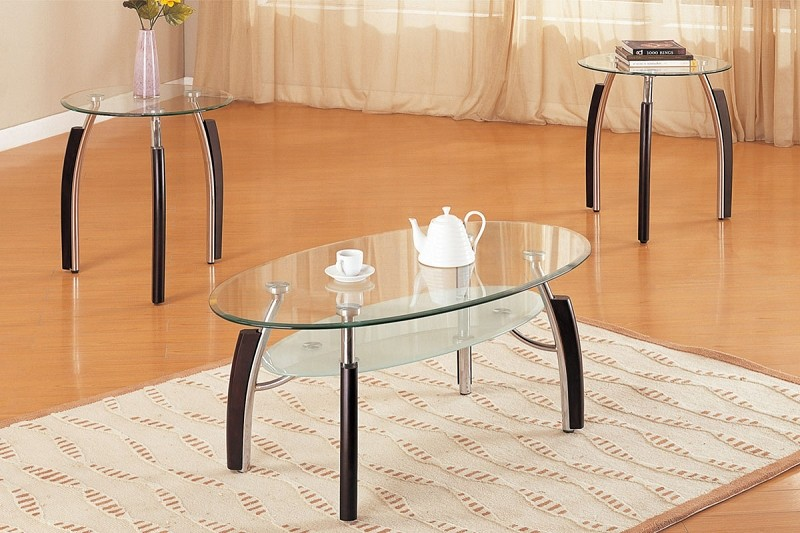 3PCS SET TABLES, 1 COFFEE TABLE + 2 END TABLES