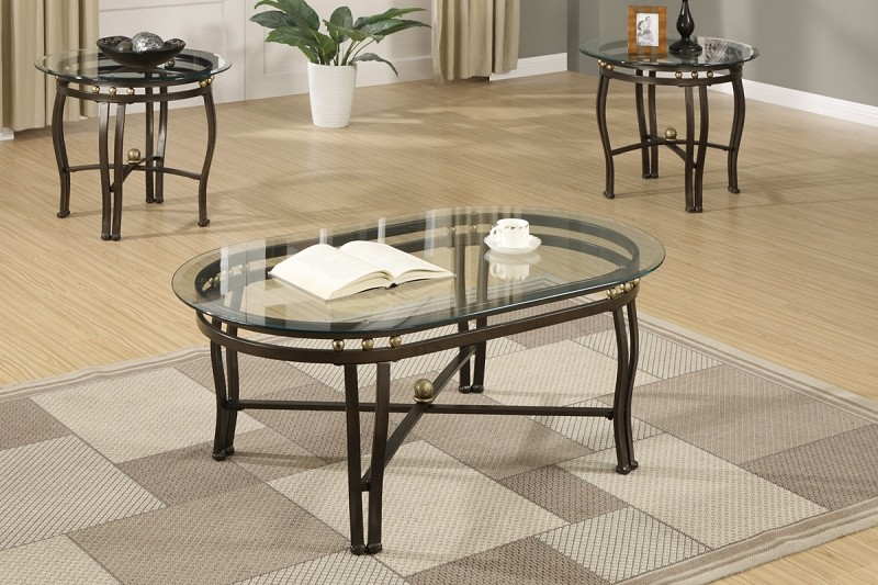 POUNDEX, 3PCS SET TABLES, 1 COFFEE TABLE + 2 END TABLES, F2368