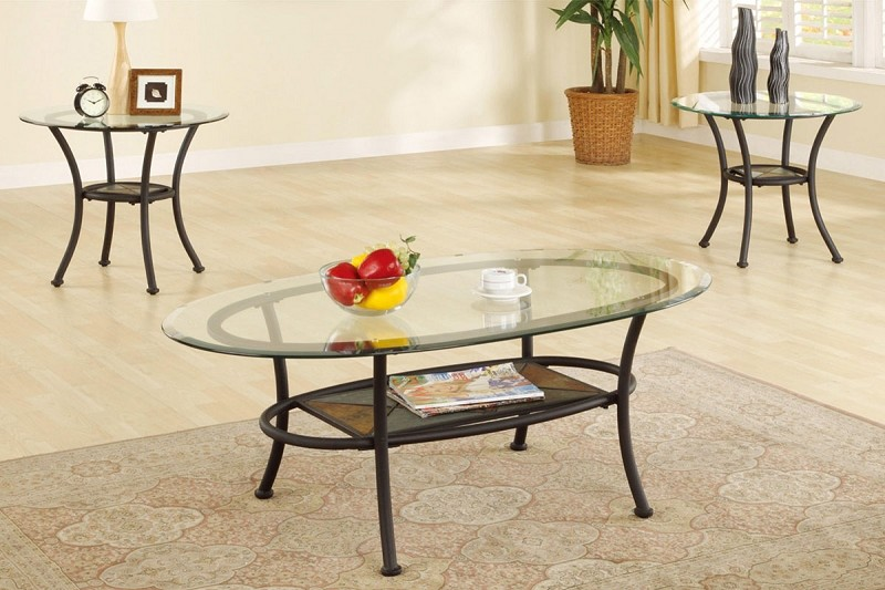 POUNDEX, 3 PCS SET TABLES, 1COFFEE TABLE+2 END TABLES, F3104