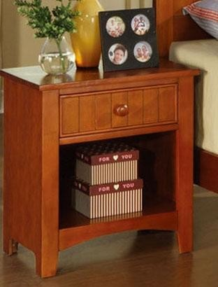 POUNDEX, NIGHT STAND DARK OAK, F4232