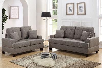Remarkable Poundex 2 Pcs Sofa Set Coffee F6501 Creativecarmelina Interior Chair Design Creativecarmelinacom