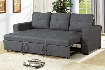 POUNDEX, SOFA WITH PULL OUT BED BLUE GRAY, F6532