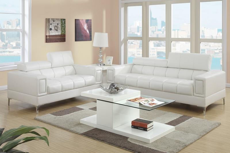 Brilliant Poundex 2 Pcs Sofa Set Cream F7240 Creativecarmelina Interior Chair Design Creativecarmelinacom