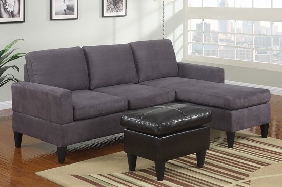 POUNDEX 3 PC MICROFIBER SECTIONAL, F7285