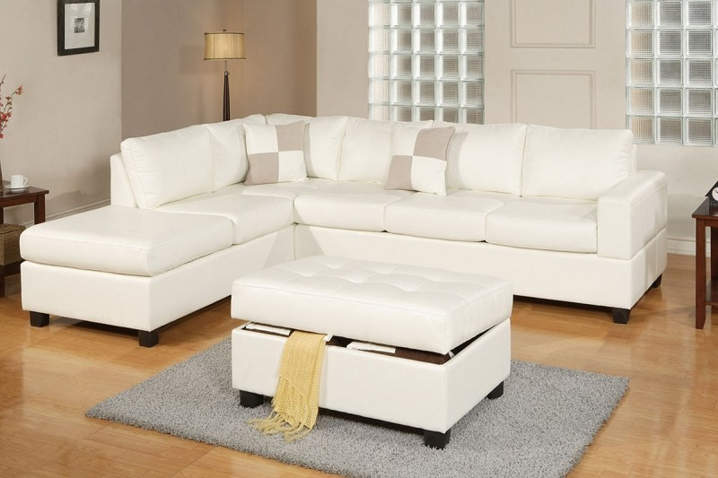 POUNDEX 3 PC SECTIONAL SOFA+OTTOMAN, F7354