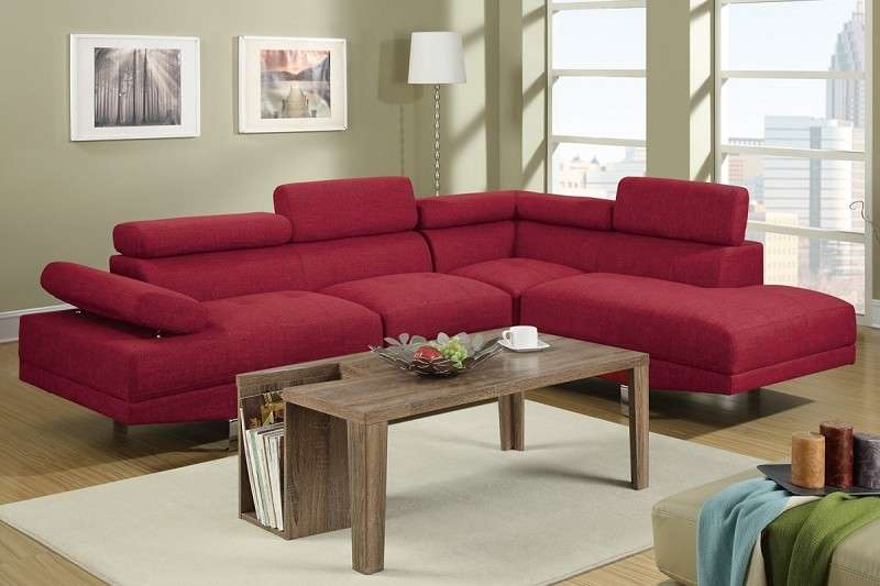 POUNDEX 2 PCS SECTIONAL SOFA SET, F7550