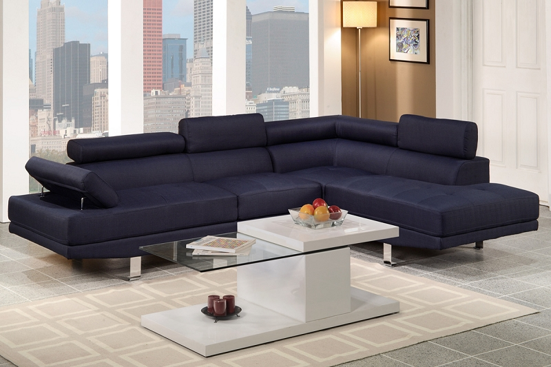 Stupendous Poundex 2 Pcs Sectional Sofa Set F7569 Inzonedesignstudio Interior Chair Design Inzonedesignstudiocom