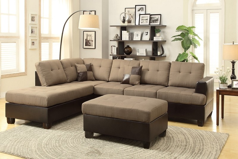 POUNDEX 3 PCS SECTIONAL SOFA+OTTOMAN, F7603