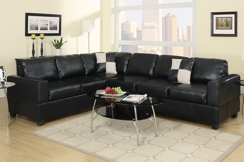 POUNDEX 2PCS SECTIONAL SOFA WITH 2 ACCENT PILLOWS, F7630