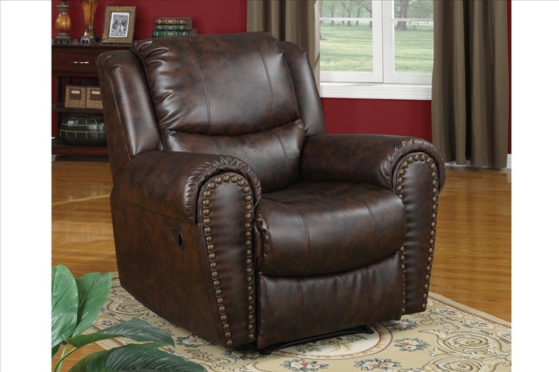 POUNDEX, ROCKER RECLINER DARK CHOCOLATE, F
