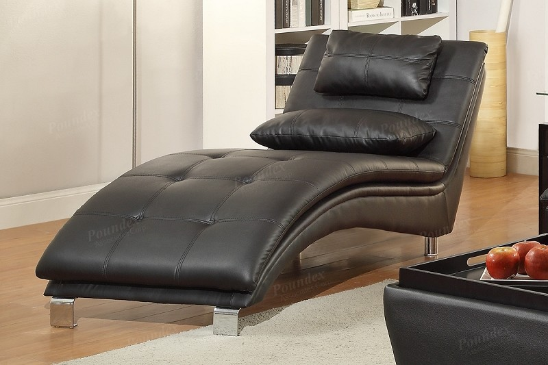 POUNDEX CHAISE BLACK , F7839