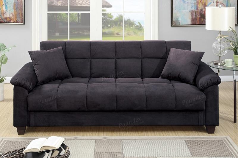 Poundex Adjustable Sofa W Storage F7888