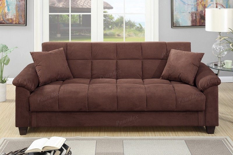 POUNDEX ADJUSTABLE SOFA W/STORAGE, F7889