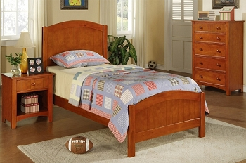 POUNDEX TWIN BED MEDIUM OAK,  F9206