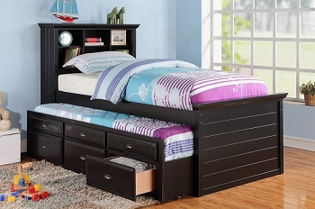 POUNDEX TWIN BED+ TRUNDLE + 3 DRAWERS, F9219