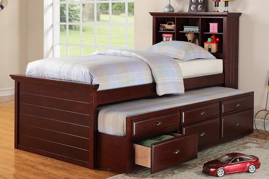 POUNDEX TWIN BED+ TRUNDLE+3 DRAWERS, F9220