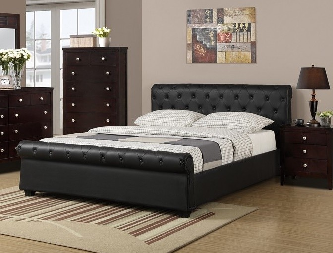 POUNDEX, QUEEN BED BLACK, F9246Q