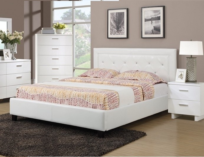POUNDEX, QUEEN BED WHITE, F9247Q