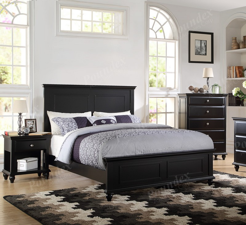 POUNDEX 6PCS BEDROOM SET QUEEN BED+1NS+DRESSER+MIRROR, F9271