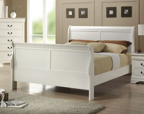 QUEEN BED WHITE FINISH