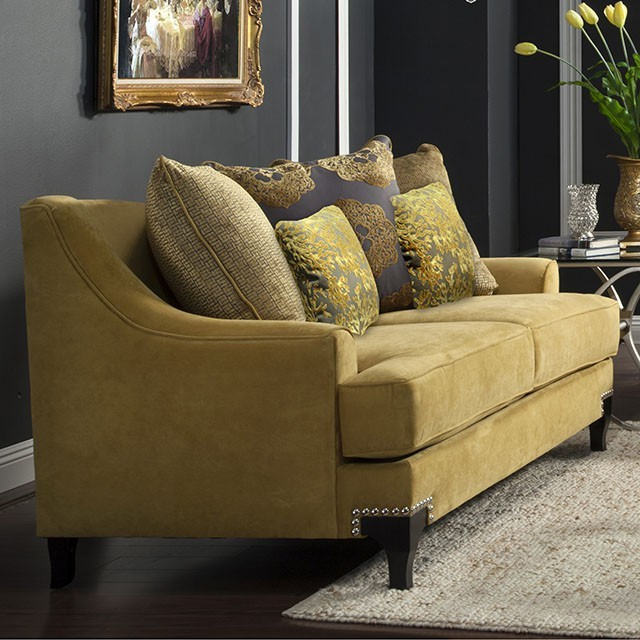 LOVE SEAT  GOLD.